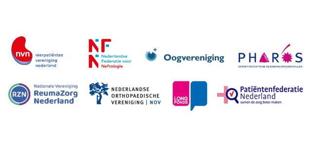 Organisaties die betrokken waren bij de totstandkoming van de bovengenoemde consultkaarten in beeld