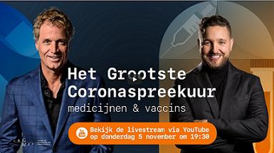 Volg op 5 november de live uitzending op YouTube van het CBG over de laatste ontwikkelingen rondom een vaccin tegen corona