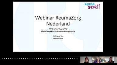 RZN organiseerde in het kader van Wereldreumadag een webinar over Reuma en Werk
