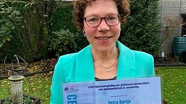 Petra Borsje is geslaagd voor de EUPATI NL opleiding