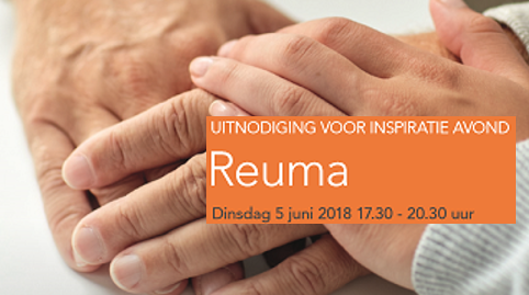 Uitnodiging Reuma Inspiratieavond 5 juni