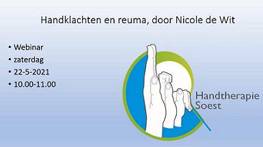 Webinar Reuma en Handtherapie